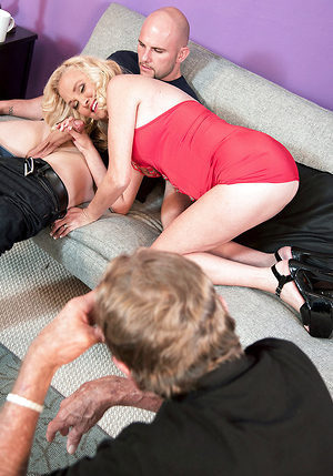 First Time...while Her Cuckold Hubby Watches